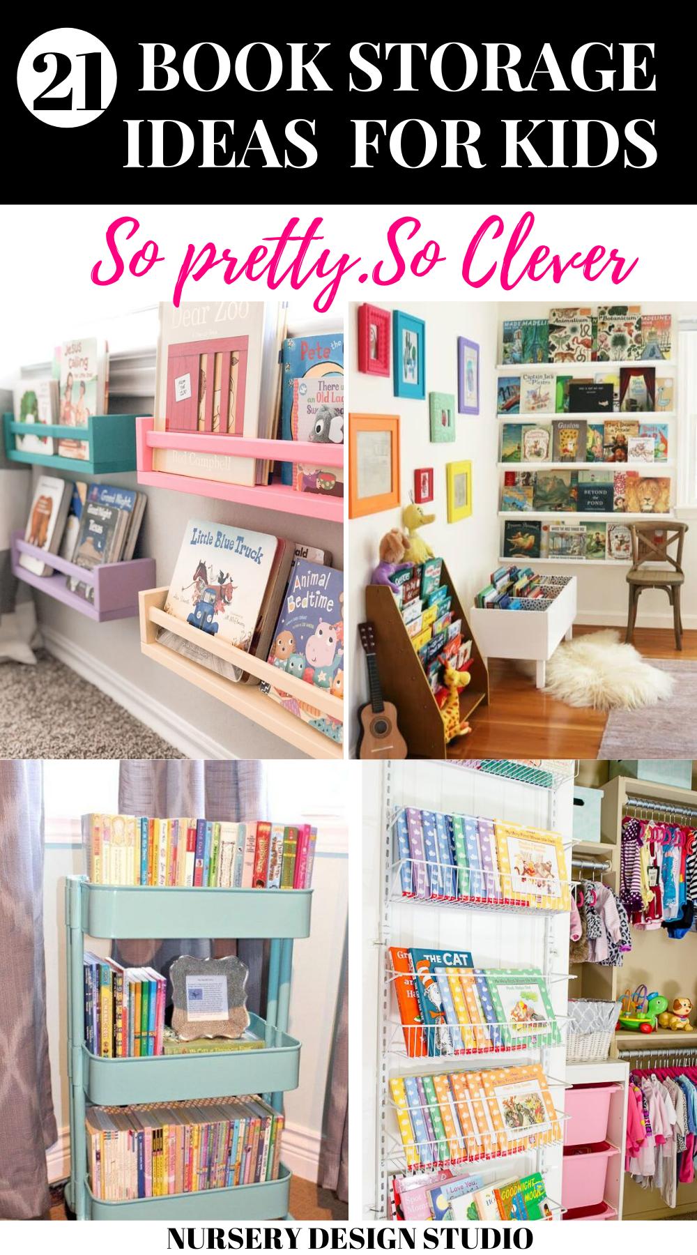 10 Cool And Creative Kids Book Storage Ideas Kids Book Storage Book Storage Kids Storage