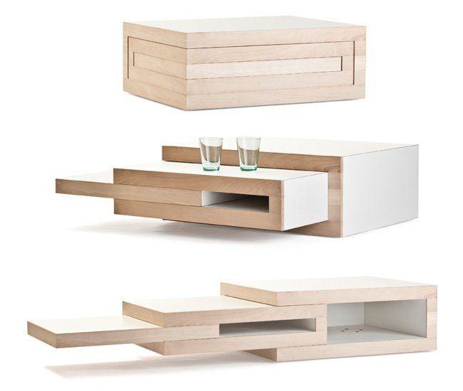 Rek una mesa de centro que se adapta a tus necesidades - Mesas de centro para espacios pequenos ...