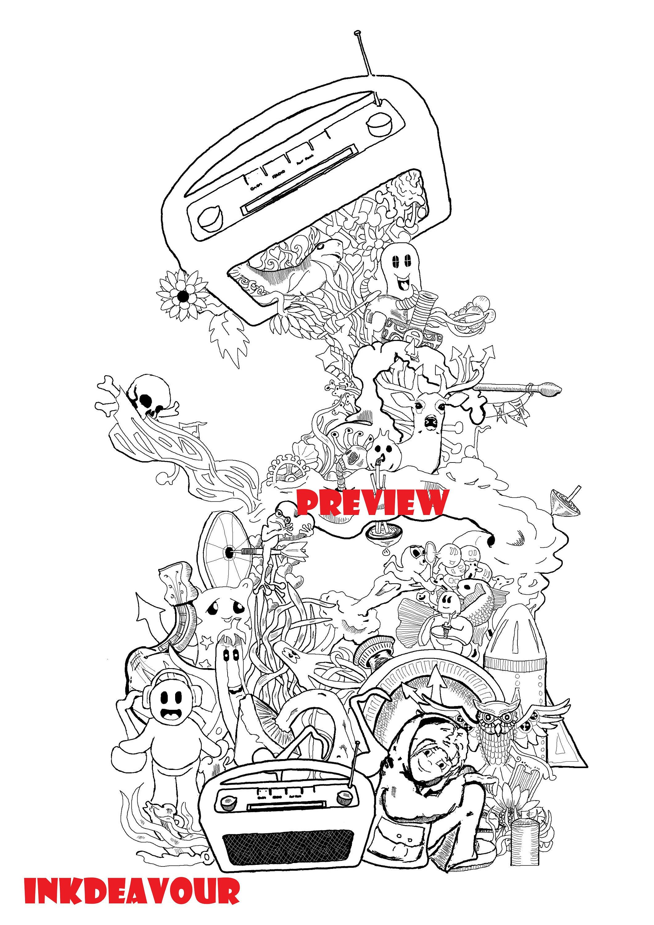 Doodle Coloring Pages Adultcoloring Kids Coloring Colouring