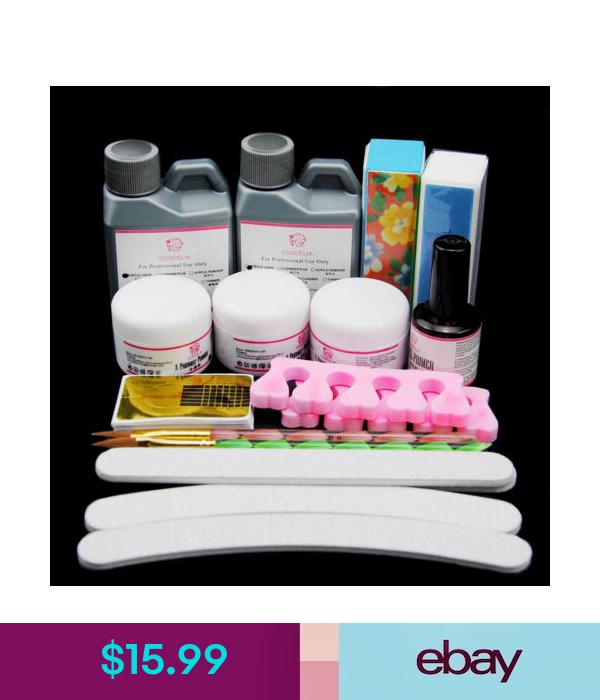 Acrylic Powders Liquids Acrylic Nail Art Kit Acrylic Powders 120ml Liquid Uv Primer Files Brush Tool Kit Ebay Fashio Nail Kit Nail Art Kit Acrylic Nail Art