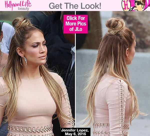 Jennifer Lopez S Half Up Half Down Hairstyle On Idol Trend To Try Jennifer Lopez Hair Hair Styles Down Hairstyles