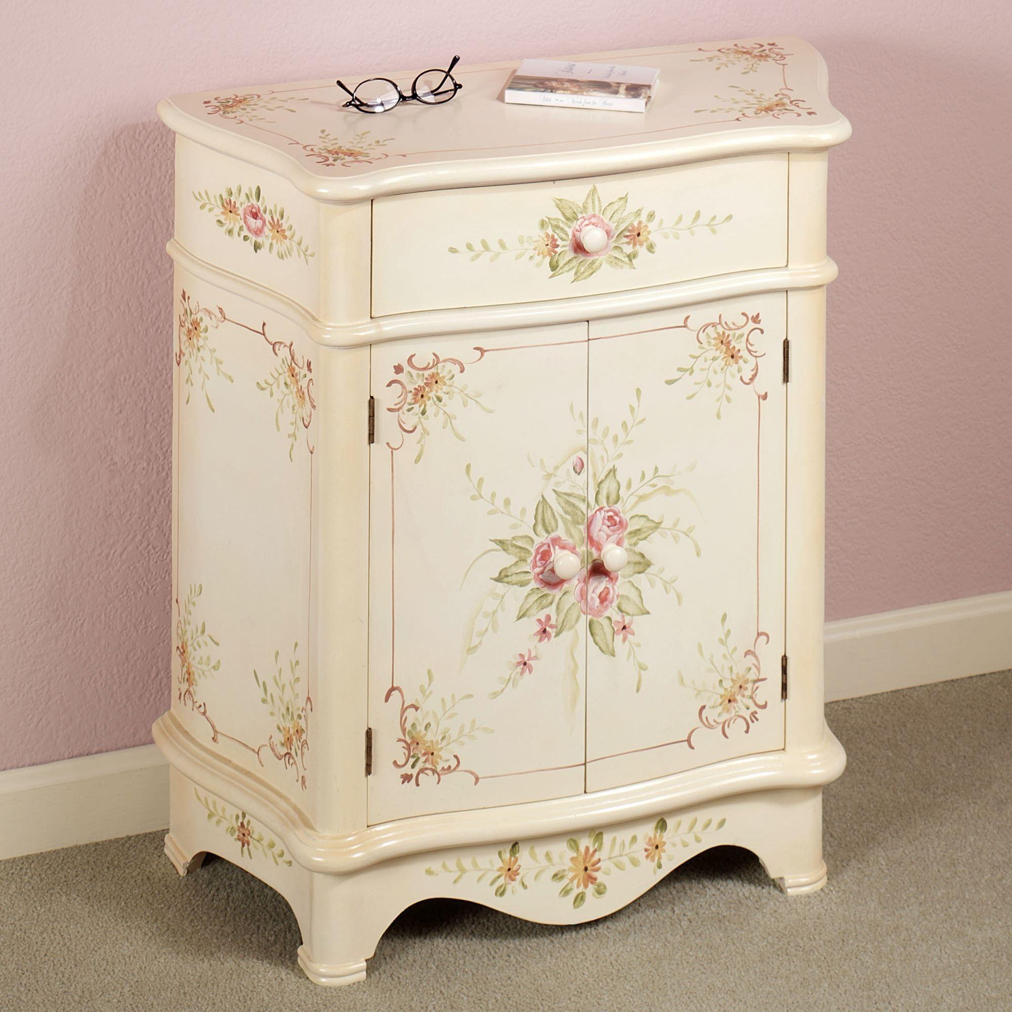 Valeria Handpainted Fl Storage Cabinet