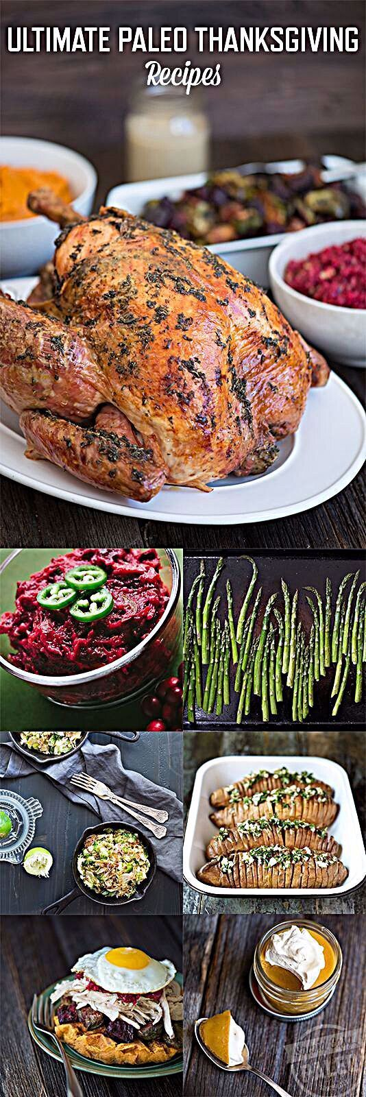 Get my Ultimate Paleo Thanksgiving recipes compilation Celebrate the holiday with your favorite glutenfree healthy Thanksgiving recipes Ultimate Paleo Thanksgiving Recipe...