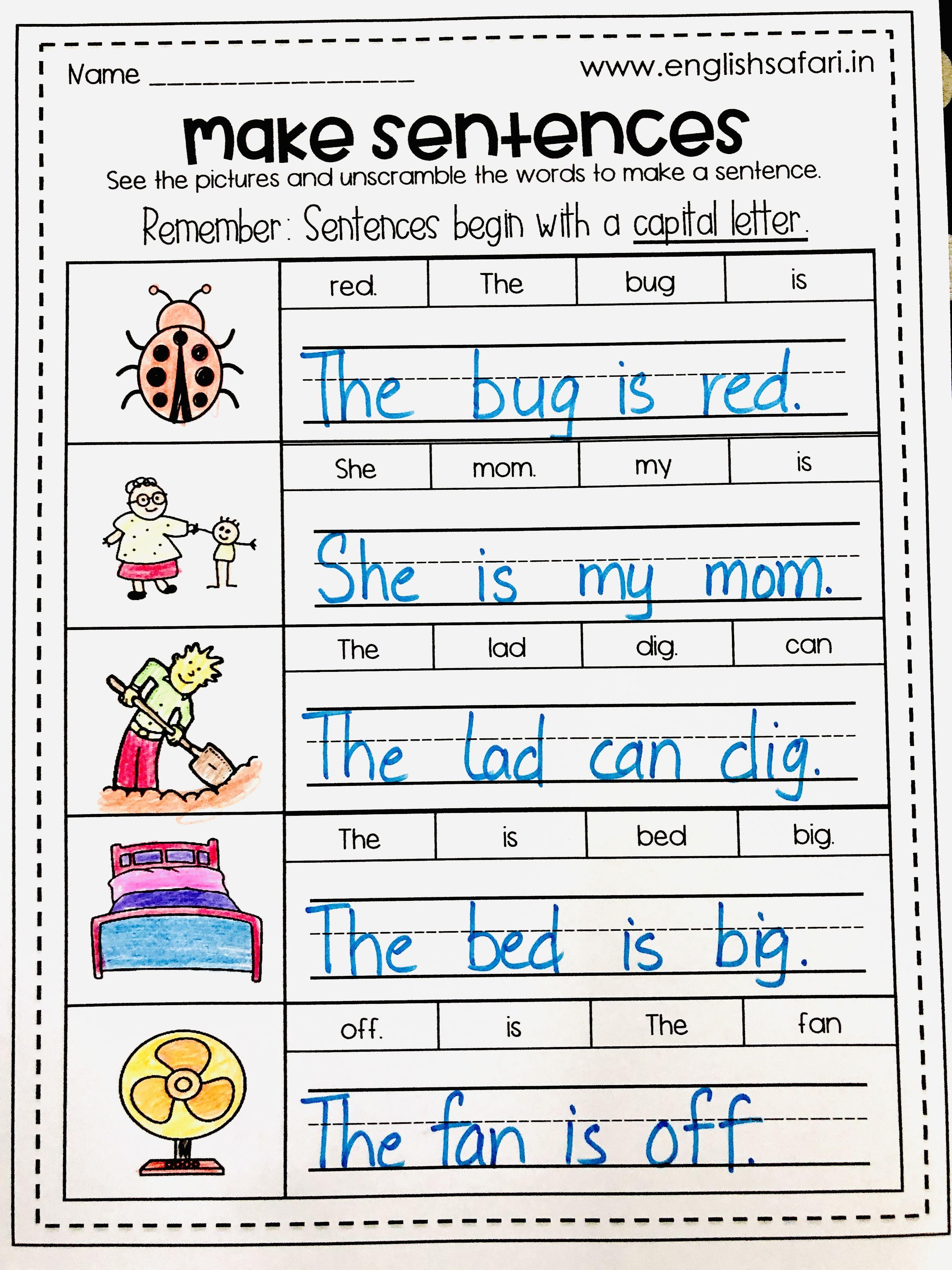 Pin On Make Sentences