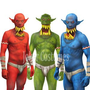 9026b82ad Details about Morphsuit Jaw Dropper Orc Clown Halloween Fancy Dress ...