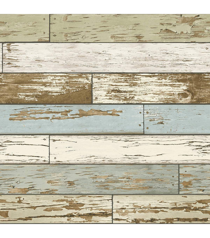 Wallpops Nuwallpaper Old Salem Peel Stick Wallpaper Wood Wallpaper How To Distress Wood Distressed Wood Wallpaper