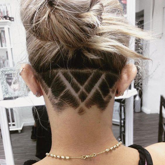 Hair Tattoo Ideas For Girls Undercut Hairstyles Shaved Hair