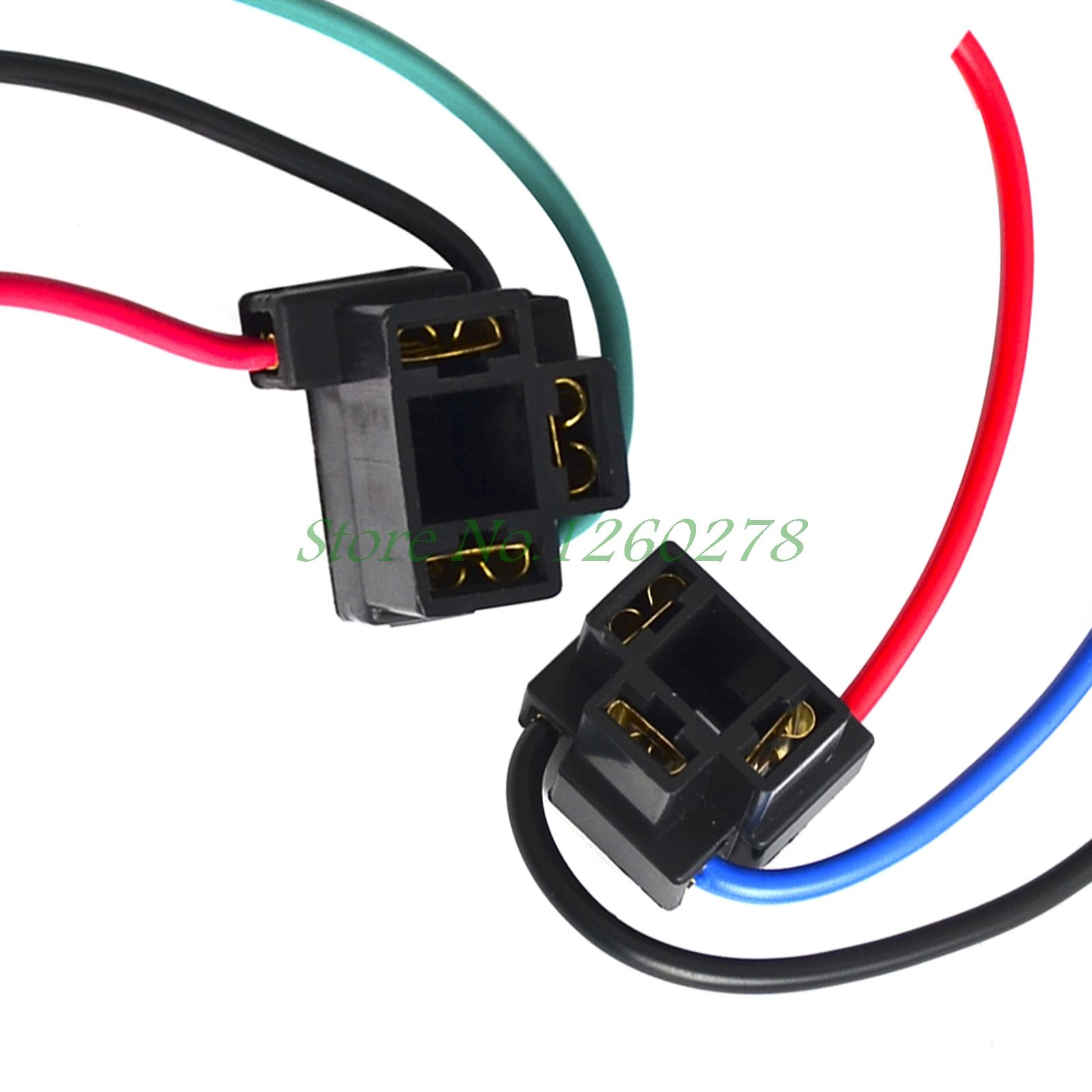 2pcs H4 Female Adapter Wiring Harness Sockets Wire Harness Connector For Headlights Car Lights Plug Socket Headlights