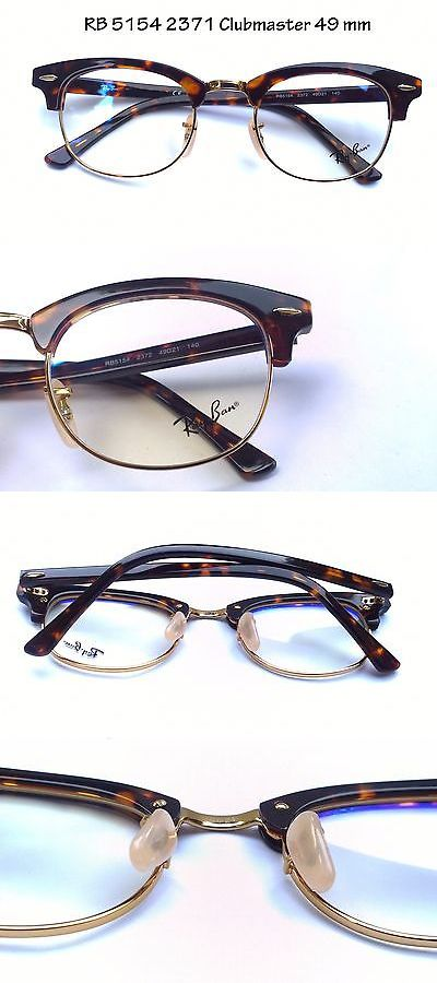 4d39c64d21 Eyeglass Frames  Rayban Eyeglass Frame Rb Rx 5154 2372 Clubmaster Tortoise  Frame Gold Rim 49Mm -  BUY IT NOW ONLY   54.48 on eBay!