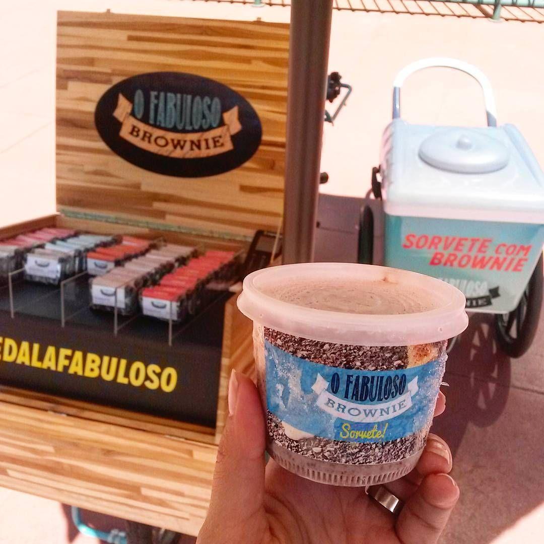 Hj é dia de #pedalafabuloso na CEMIG! Vem que tem sorvete pra refrescar essa sexta! #ofabulosobrownie #brownie #sorvetecombrownie