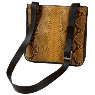 4ad2e59b64ada SAMANTHA - Handmade Genuine Exotic Leather Python Snake Skin Women Designer  Handbag   Sling bag