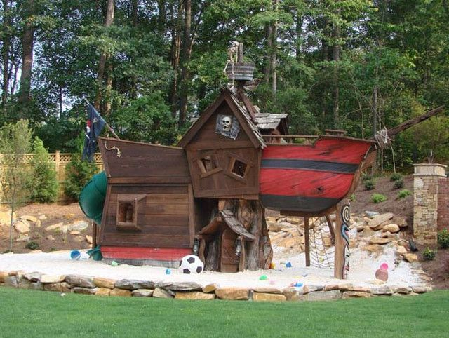 Beau Scallywag Pirate Tree House   Eclectic   Outdoor Playsets     By The Well  Appointed House