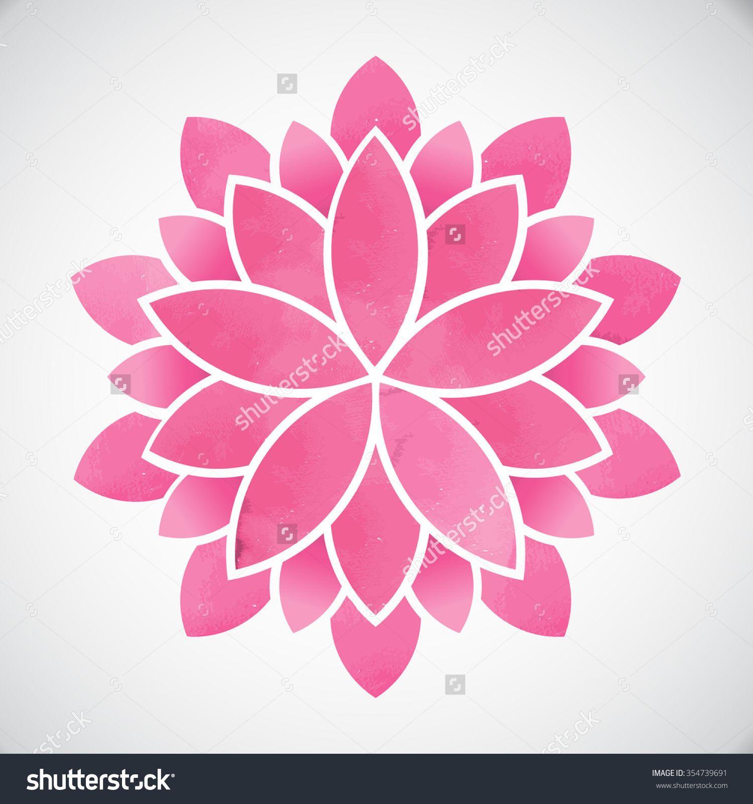 Lotus Flowerwatercolor Style Vector Graphic Design Tattoos