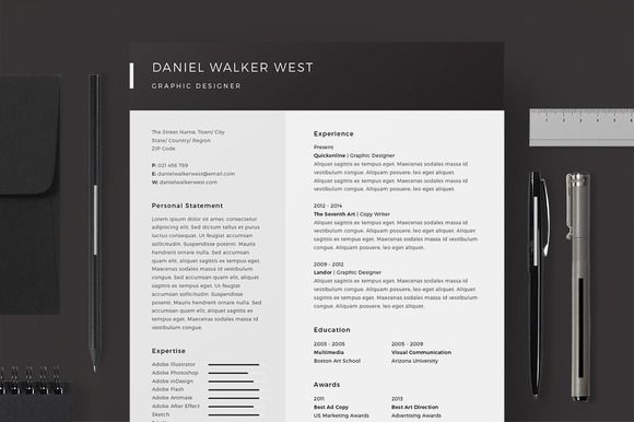 Resume/CV - Daniel Walker by @Graphicsauthor