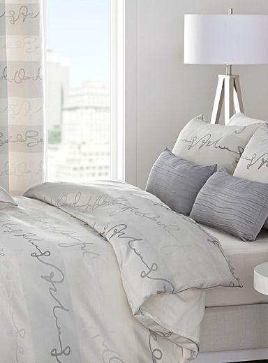 une exclusivit simons maison le motif criture hyper tendance en d co jacquard raffin de. Black Bedroom Furniture Sets. Home Design Ideas