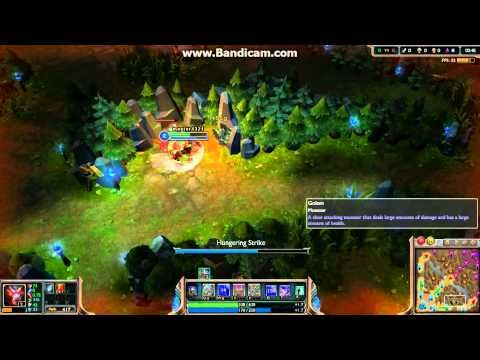League of Legends jungle warwick how to solo dragon level 4 (HD) season 3