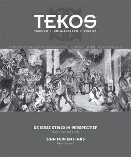 """ARTICLE DE LA REVUE TEKOS """"De crisis van de hedendaagse identiteiten"""" door Thibault Isabel, vertaald door Peter Logghe A lire dans Tekos 161: Ierse strijd in perspectief"""