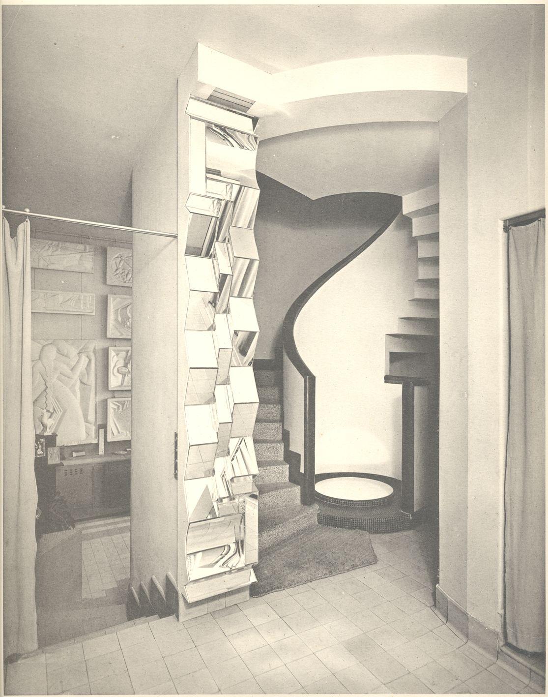 rob mallet stevens architecte paris entr e de l 39 h tel de mm j et j m paris miroir. Black Bedroom Furniture Sets. Home Design Ideas