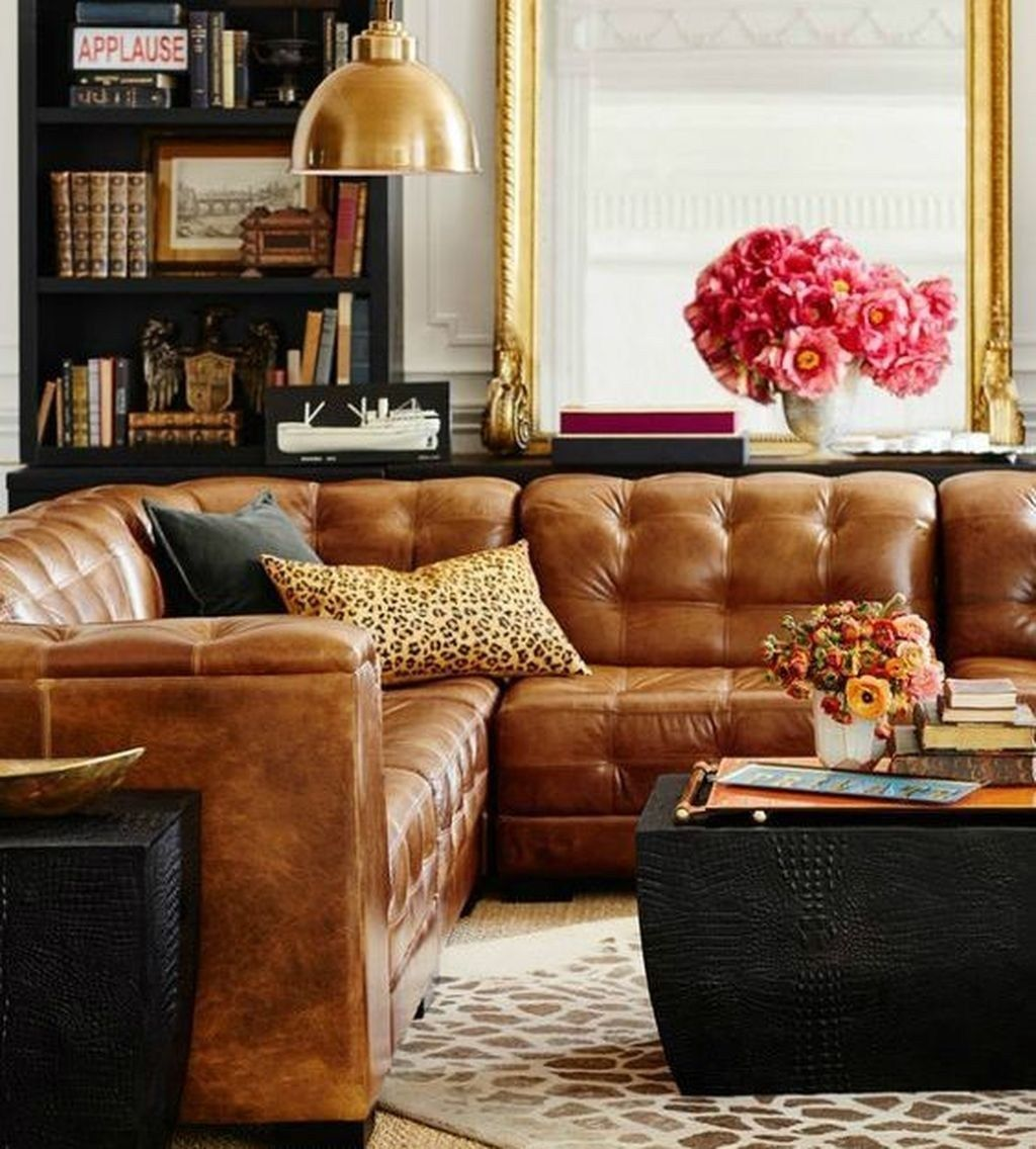 cool brown sofa ideas for living room decor 12  living