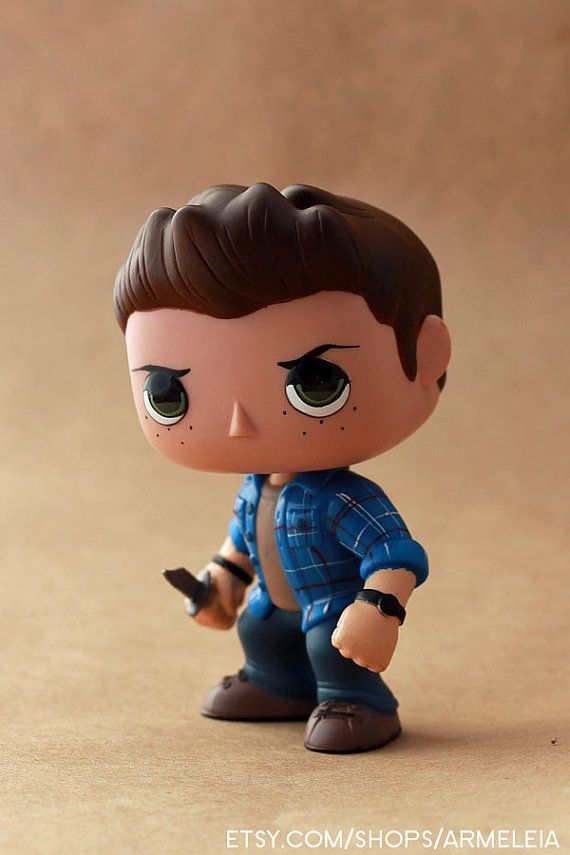 Commissionable Dean Winchester Funko POP Repaint by armeleia, $20.00