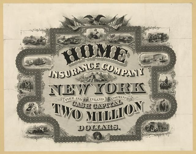 Home Insurance Company New York Cash Capital Two Million