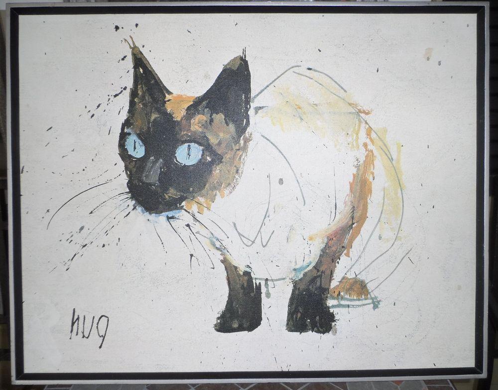 Mid Century Modern Canvas Siamese Cat Art Fritz Hug ... - photo#37