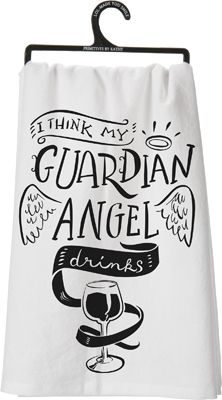 Item 25257 Dish Towel Guardian Angel Primitives By Kathy Dish Towels Primitives By Kathy Tea Towels