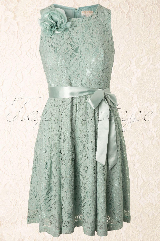 60s Daphne Dress in Mint Green Lace | Kleid aus spitze, Mint und Sei du