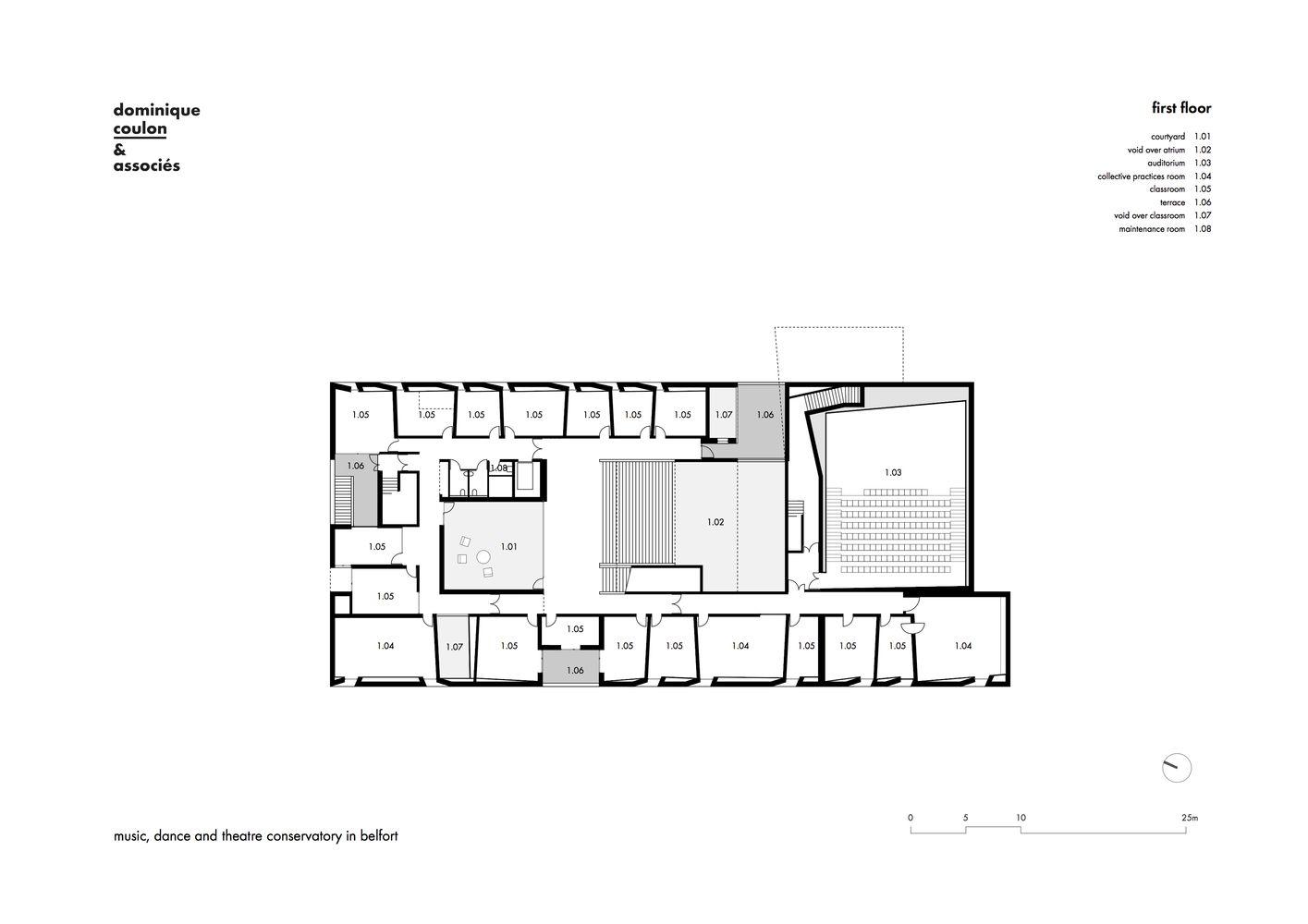 Gallery Of Henri Dutilleux Conservatoire Dominique Coulon Associes 38 Dramatic Arts Music School Conservatory