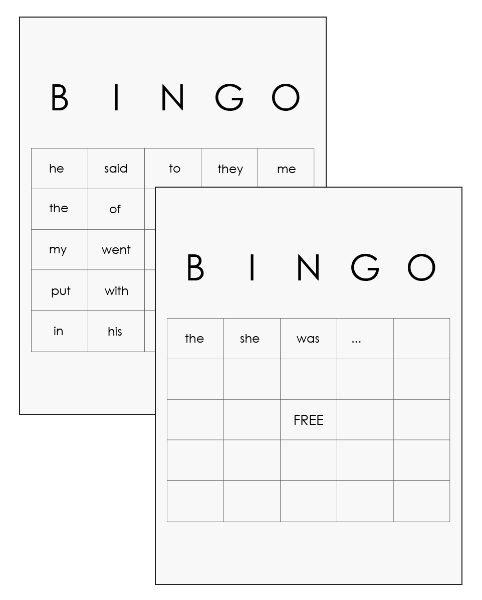 Sight Word Flashcards, Sight Word