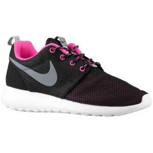 nike roshe run women black \/ cool grey \/ white \/ pink foil