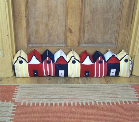 Draught Excluder Street Of Houses Love The Idea Of Brighter Brighter Wilder Colours Fabrics Or Different Style Draught Excluder Diy Crafts Craft Fairs