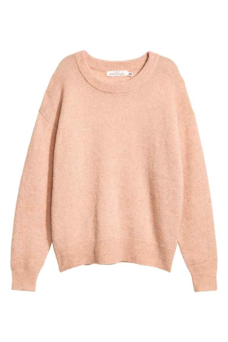 Jersey en mezcla de lana - Rosa palo - MUJER  63358b6949a7