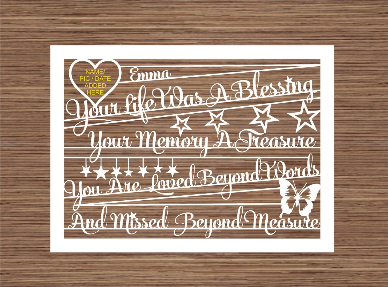 Download Your Life Was A Blessing PDF SVG Instant Download Digital ...