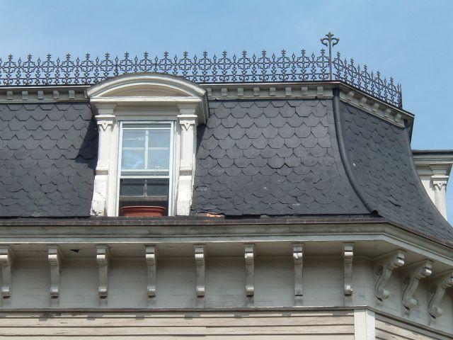 Image result for mansard roof starbucks vending machine for French balcony definition