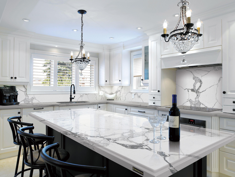 quartz kitchen countertops venetian gold granite engineered stone statuario kitchens
