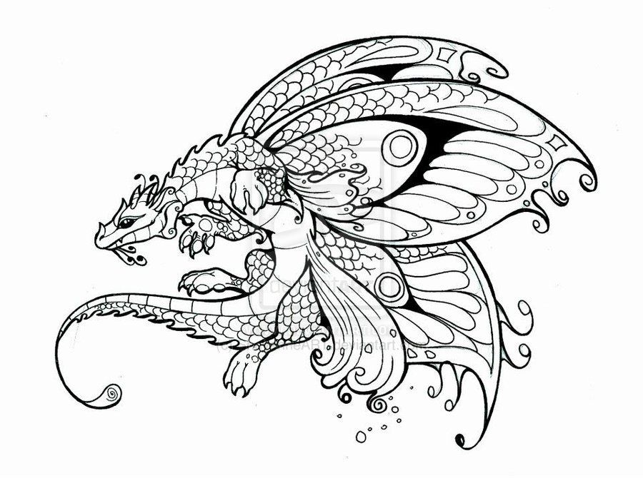 Awesome Coloring Pages Dragons Fairies Images - Triamterene.us ...