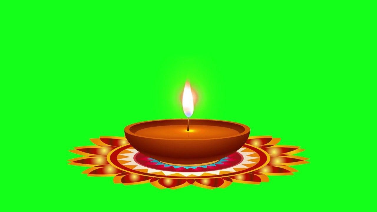 Greenscreen Diwali Diya/tihar diyo/ light burning free