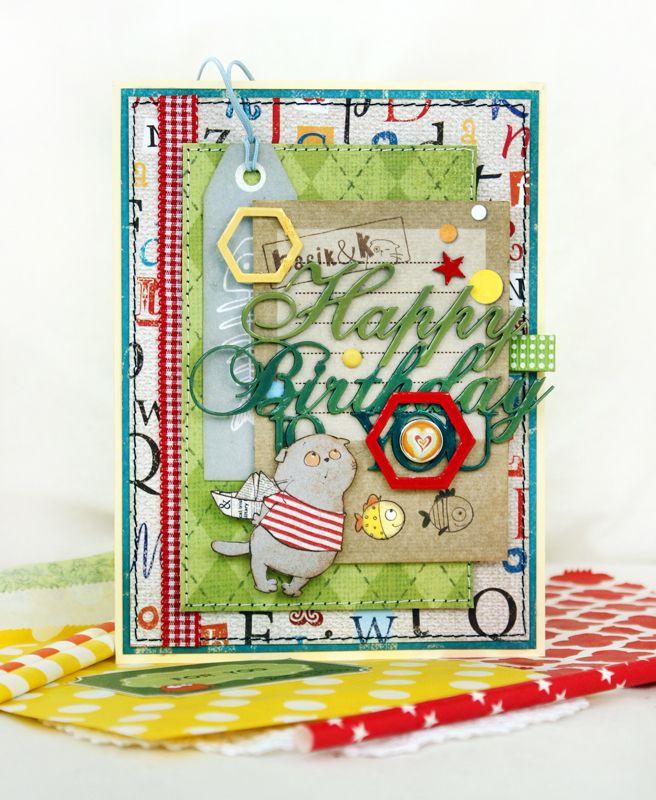 Почте открытки, детские открытки скрапбукинг в форме флажка