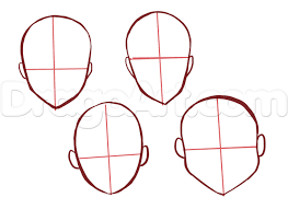 Image Result For Anime Face Bases Anime Head Anime Face Shapes Anime Drawings
