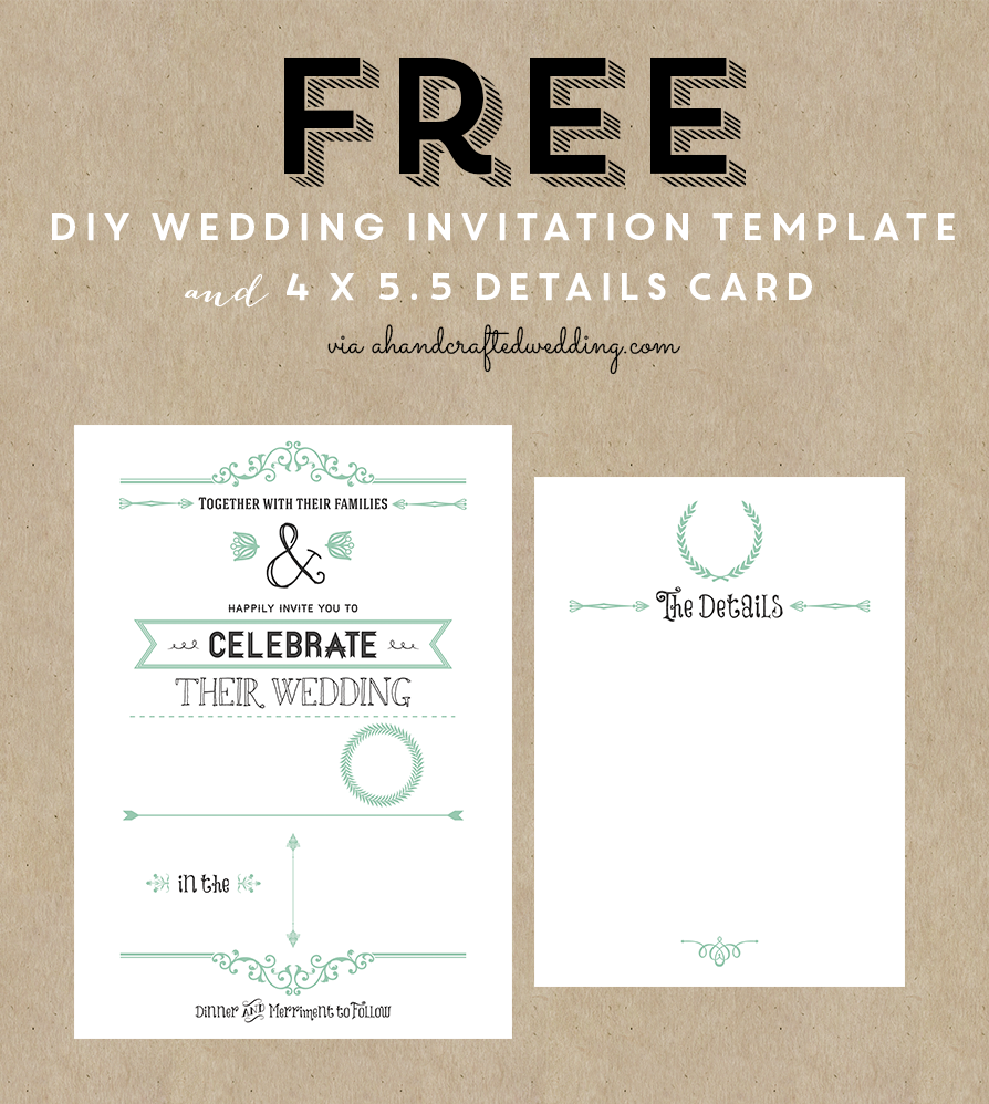 FREE Printable Wedding Invitation Template Free Wedding Invitation - Card template free: online wedding invitation cards templates