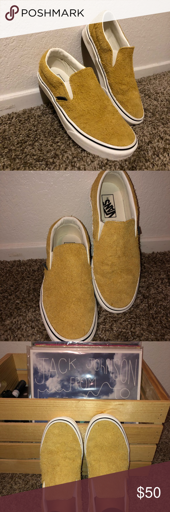dd22a7c506 Sunflower Suede Slip-on Vans🌻 Brand new in box! They are a women s