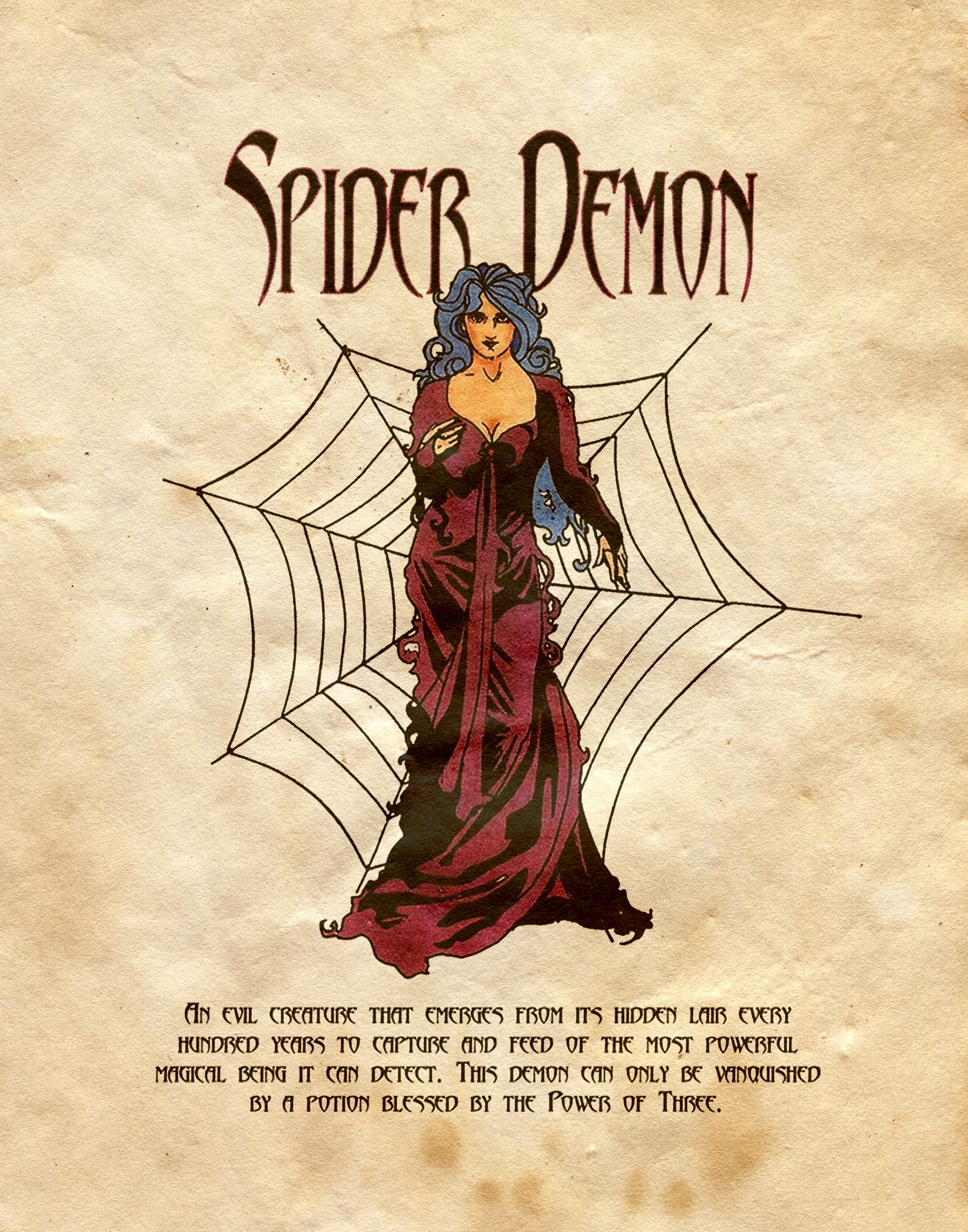 """""""Spider Demon"""" - Charmed - Book of Shadows"""