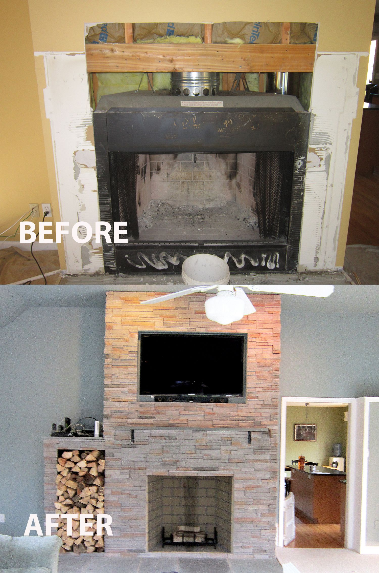 Our Sandy Hook installation and remodel before & after a new 42