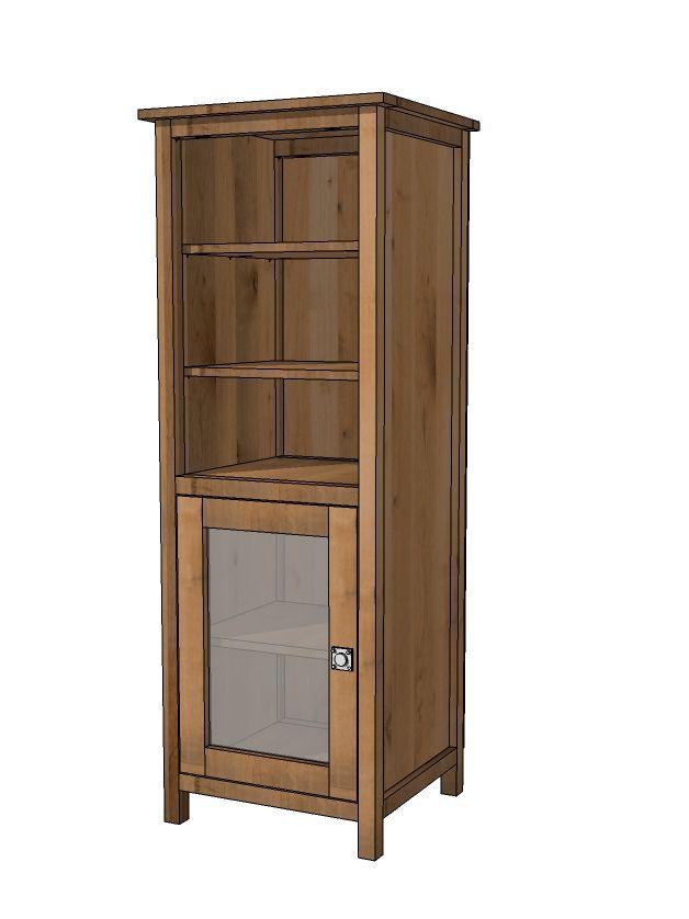 Ana White Diy Benchmark Storage Or Media Tower Extra