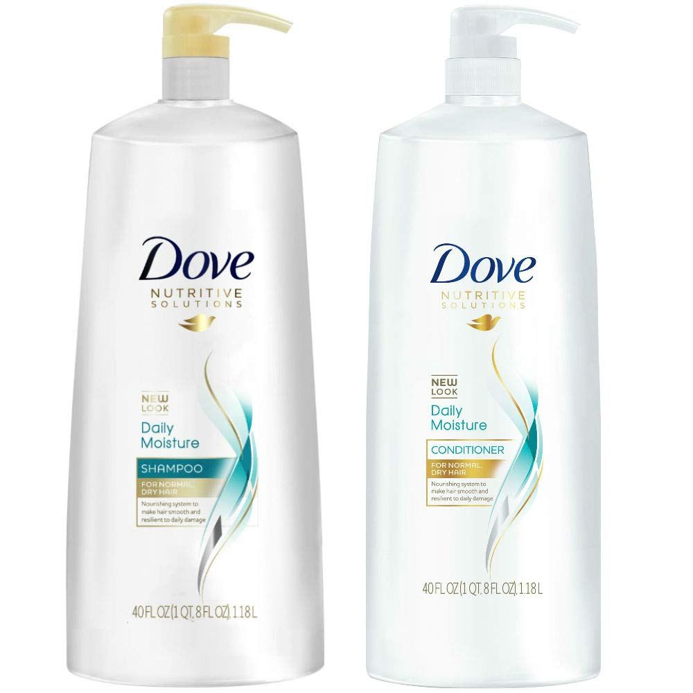 Dove Nutritive Solutions Daily Moisture Shampoo And Conditioner Duo Set 40 Ounce Pump Bottles Drugstore Shampoo Shampoo Dove Shampoo And Conditioner