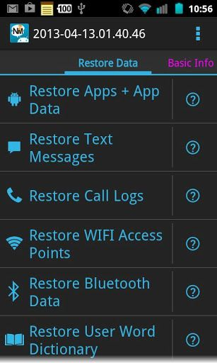 With Nandroid Manager you can restore data from your