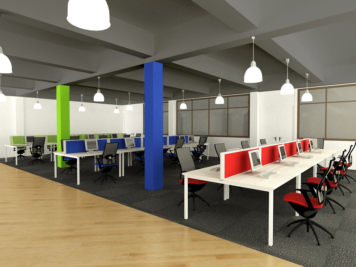 open office concept. open concept office workstation design
