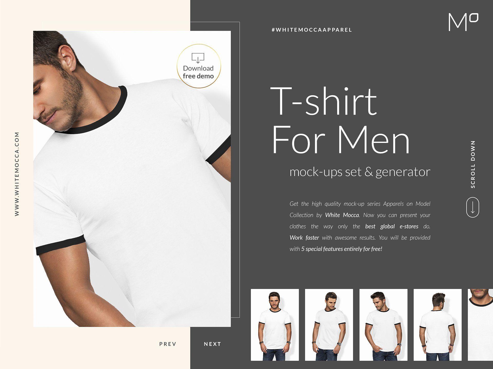 Download Men T Shirt Mockups Set Free Demo Shirt Mockup Mens Tshirts Mockup
