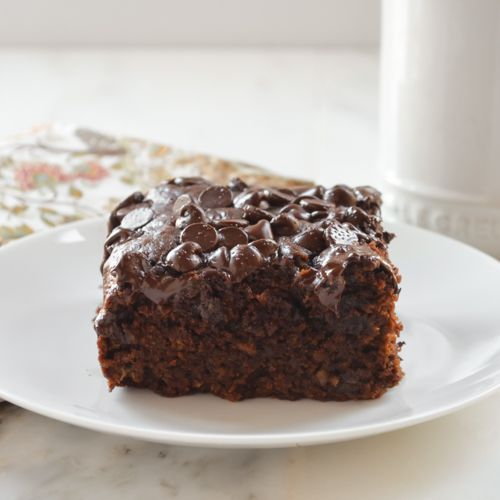 Eggless Chocolate Banana Cake. Moist, rich and delicious.